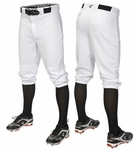 Easton Pro + Knicker Solid Baseball Pants A167103 - Adult White
