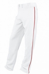 Easton Adult White/Red Rival Piped Pants A164561