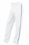 Easton Adult White/Royal Rival Piped Pants A164561