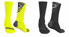 Evoshield Performance Crew Socks - Neon Yellow and Black