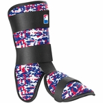 EvoShield Red/Blue/White Batter's Leg Guard A110MLB