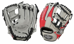 Louisville Slugger HD9 Hybrid Defense Baseball Fielding Glove Grey/Scarlet FGHD14-GS112