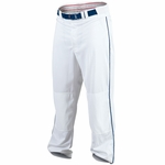 "Rawlings Men's White/Navy Premium Plated 1/8"" Piped Baseball Pants BBXPROFLR150P"