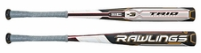 Rawlings Trio 3-Piece Hybrid Balanced BBCOR Baseball Bat -3oz BBRTTB 2015