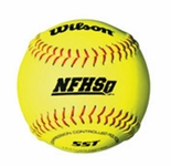 "Wilson  12"" Polycore Softball  NFHS WTA9011 1 dz Conference Stamp"