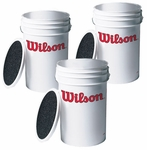Wilson Ball Bucket with Seat 3 PACK