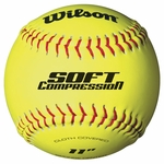 Wilson WTA9319BT0 11 inch Softball Cloth Cover 1 dz