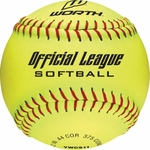 "Worth 11"" Official League Yellow Fastpitch Softball W00555214 1 dz"