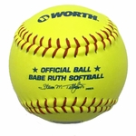 "Worth 12"" Babe Ruth Yellow Fastpitch Ball WOO535521 1 dz"