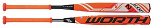 Worth Legit 4 Piece Double Barrel Fastpitch Bat FP2LG9 -9oz (2016)