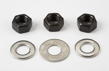 2-spd axle nuts/washers, Part# QRW2NB