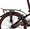 Aluminum rear rack 20 - Black