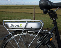 BionX PL350 with a rear rack mount