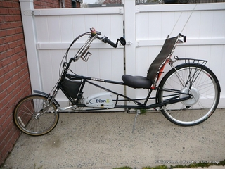 BionX on a Tour Easy recumbent