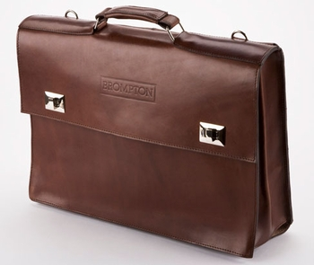Brompton A-Bag Leather Case c/w frame, strap, and rain cover