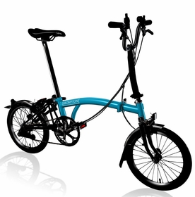 Brompton Black Edition 2017 - Lagoon Blue M6L