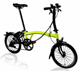 Brompton Black Edition 2017 - Lime Green S6L