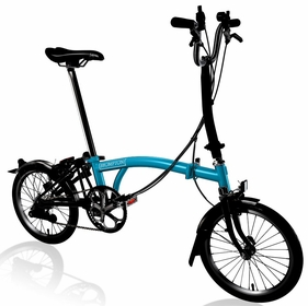 Brompton Black Edition - Lagoon Blue H6L