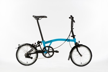 Brompton Black Edition - Lagoon Blue S6L