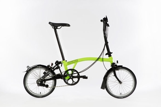 Brompton Black Edition - Lime Green S2L