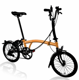 Brompton Black Edition - Orange H6L