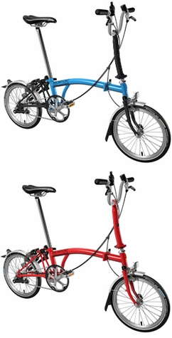 Brompton folding bike, 3-speed, Comfort Handlebar with Fenders (M3L-NYC)