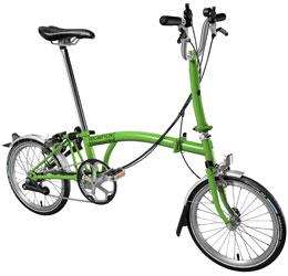 Brompton folding bike, 6-speed, Comfort Handlebar with Fenders (M6L-NYC)