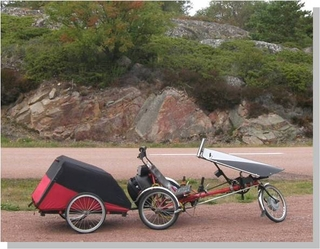 Camping in Finland with a BionX Recumbent