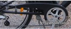 Chain guard for full size bikes, black