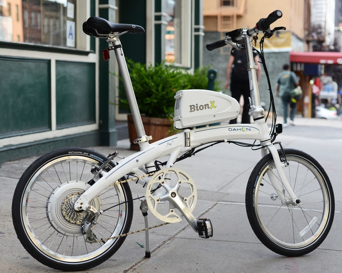 Dahon MuP8 with BionX electric motor system