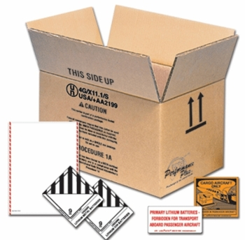 DOT approved return shipping box for Lithium batteries (300 watt or larger)