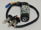 Keyed on-off switch with keys