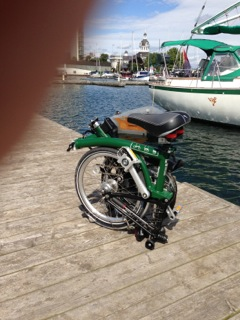 My Electric Brompton's First Boat Trip
