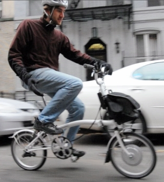 Riding a Brompton Electric Bike