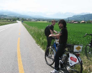 Riding Electric Bikes to the Alps