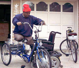 Sugar Bear's electric trike