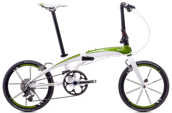 Tern Folding Bike Verge X10 on electric motor scooters