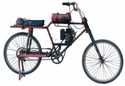 The motorized bicycle, an electric marvel.
