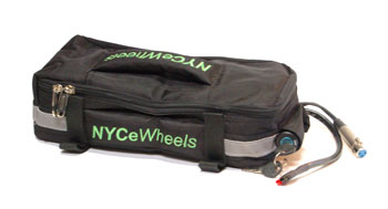Trunk bag with key switch for electric bike batteries