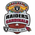 2014 Oakland Raiders vs. Arizona Cardinals Game Day Lapel Pin