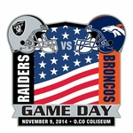 2014 Oakland Raiders vs. Denver Broncos Game Day Lapel Pin