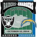 2014 Oakland Raiders vs. San Diego Charger Game Day Lapel Pin
