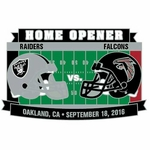 2016 Oakland Raiders vs. Atlanta Falcons Game Day Lapel Pin