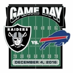 2016 Oakland Raiders vs. Buffalo Bills Game Day Lapel Pin
