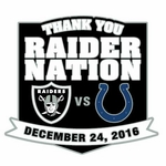 2016 Oakland Raiders vs. Indianapolis Colts Game Day Lapel Pin