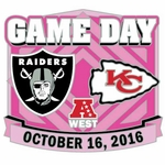 2016 Oakland Raiders vs. Kansas City Chiefs Game Day Lapel Pin