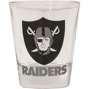 Oakland Raiders 2oz Clear Shot Glass - Click to enlarge