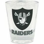Oakland Raiders 2oz Clear Shot Glass