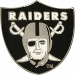 Oakland Raiders Shield Lapel Pin