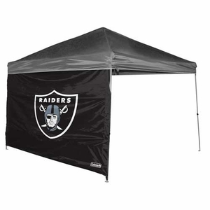 Oakland Raiders 10x10 Straight Leg Tent Wall - Click to enlarge